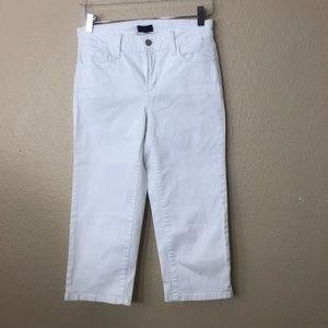 NYDJ White Jeans Capris Embellished Pockets